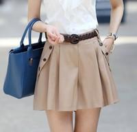 Free Shipping Hot Sale Summer New Arrival Loose Plus Size Korean Leisure A Patterned Short Pants Khaki/Deep Blue
