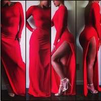2014 Laina Rauma New Fashion Design Spring BE MINE Dress ,Red Empire Floor Length Sexy Dress,Vestidos de Fiesta prom dresses