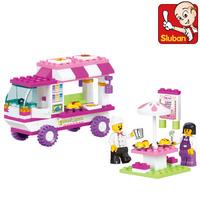 Sluban Building Block Set 3D Enlighten Construction Brick Toys Educational Block toy for Children free shipping