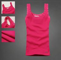 All-match basic shirt women's brand vest summer slim 100% cotton spaghetti strap vest  Tanks Camis free shipping