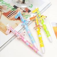 HOT SALE  20 Pieces / Lot   Cute Animals Ball-point Pens Wholesale,Cartoon Ball-point Pens,Giraffe Ballpoint Pens,Free Shipping