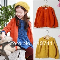 2014 New Spring Korean Fashion High Quality Children Clothing Girl's Cardigan Kid's Knitwear Wool Sweater Coat free shipping