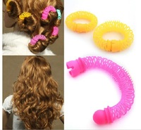 12 Pcs/Lot 2014 New Fashion Arrival Lucky Donuts Curly Hair Curls Roller Hair Styling Tools Hair Accessories For WomenJJ50