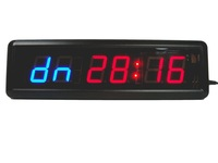 1.8'' Character High MMA WOD Crossfit Interval Timer GYM Training Sport Fitness Wall Clock Interior Programmable Round Exercise