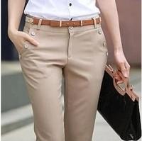 New 2014 XXS-XXXXL  formal pants women's suit pants slim straight western-style trousers women's trousers overalls