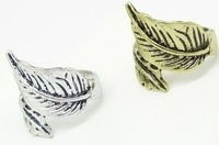 European And American Retro Fashion Simple Leaves Ring