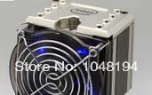 Intel 4 copper heat pipe in the copper bottom PWM mute fan CPU X58 radiator radiator 1366 match Free Shipping(China (Mainland))