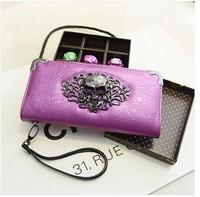 2014 women's handbag day clutch skull clutch Good quality, free shipping 6 colors