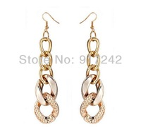 Free Shipping Cheap Gift Wholesale Jewelry Gold Plated Earrings For Women Jewelry Pendant Earrings 1914