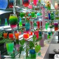 50bag/lot Pearl Shaped Crystal Soil Water Beads Mud Grow Magic Jelly Balls Wedding Home Decor
