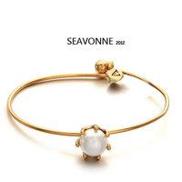 Free Shipping 2014 Vintage Metal Fashion Hot Wholesale Simple pearl Bracelet Bangle and Bracelet dropshipping  B