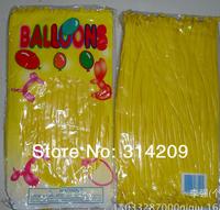 Free Shipping Wholesale 100pcs/lot Yellow Wedding Birthday Party Decoration Magic Ballons Assorted Latex Long Balloon