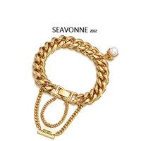 Free Shipping 2014 Vintage Metal Fashion Hot Wholesale pearl Tassels Bangle and Bracelet dropshipping  B