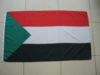 Free shipping One Piece 3ft x 5ft Sudan Flag Polyester Sudan National Flag in size 90cm x 150cm
