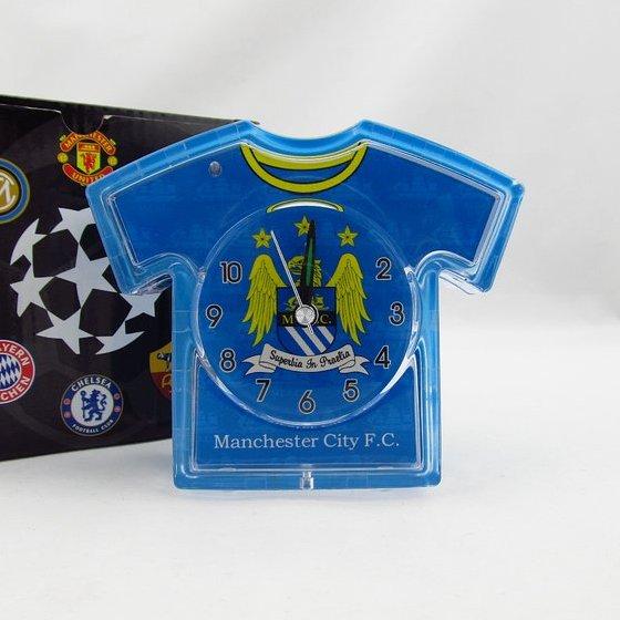 Man City team logo Crystal jersey alarm clock football fans souvenirs(China (Mainland))
