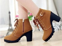 2014 spring and autumn female shoes boots single boots round toe martin boots female fashion female