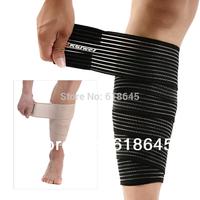 2pcs =1 pair spirally-wound  elastic bandage kneepad \shank bandage pad\ shin guard \sports fitness gym protective