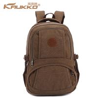 3 colors canvas backpack men travel bag vintage school bag  2014 new fashion brand FP54