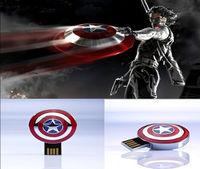 2014 new Captain America shield model usb 2.0 flash memory stick thumb pen drive