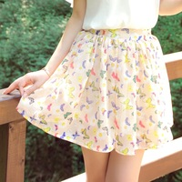 Slim chiffon sweet women's bust skirt small fresh dot short skirt summer
