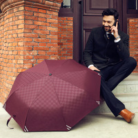 2014 new arrival hot sale High quality Luminous Men fully-automatic folding umbrella beach rain umbrella Free shipping