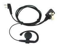 2 PIN PTT MIC Earpiece for KENWOOD TWO Way Radio Headset Walkie talkie two way CB Ham Radio