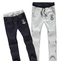 2014 New Men Casual Sports Pants/ loose men  trousers/Loungewear and nightwear,Black&Gray,
