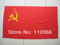 Free shipping One Piece 3ft x 5ft Soviet Russia Flag Polyester Soviet Russia National Flag in size 90cm x 150cm