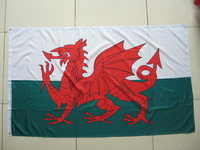 Free shipping One Piece 3ft x 5ft Wales Flag Polyester Wales National Flag in size 90cm x 150cm