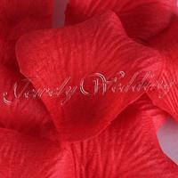 3500 pieces Dark Red Silk Simulation Rose Petals For Wedding Decor Wedding Rose Petals