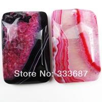 O0071 Free Shopping Beautiful Romantic Fashion Druzy Geode Agate Pendant Bead 2pcs/lot
