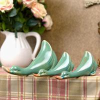 Fashion home decoration accessories ceramic duck decoration set duck