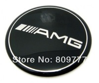 For AMG Black  STEERING WHEEL STICKER EMBLEM DECAL BADGE METAL