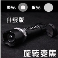 Q5 strong light flashlight cree led rotating zoom flashlight