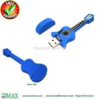 Free shipping  100% Genuine  guita shape USB flash pendrive 4G,8G,16G,32G and 64G