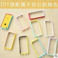 For iphone    for apple   5c phone case patchwork candy color protective case