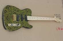 Tl grátis frete flor dourada Paul wong 010 8602 guitarra elétrica com acessórios importados pode ser substituído e nomes de guitarras(China (Mainland))