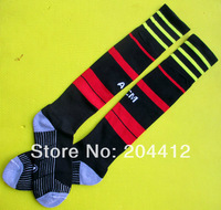 2013 / 2014 AC Milan FC Soccer Long Socks Adult Average Size High Quality Black