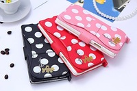 Free Shipping! Minnie Mouse Bowknot Design PU Leather Stand Wallet Flip Case Cover for Samsung Galaxy Note 3 III n9000 n9006