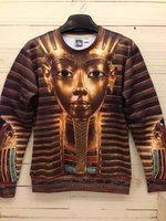 High quality 3D Print Animal Sweater Golden Pharaoh Print Hoodies 3D Sweatshirt
