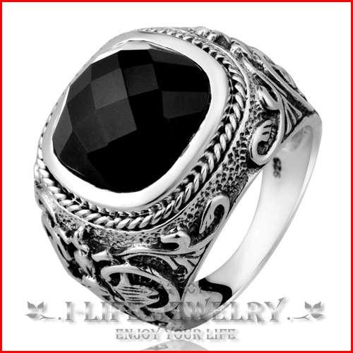 ... noire moissanite bague de fiançailles avec de la pierre pour homme