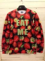 High quality 3D Print Animal Sweater Strawberry Print Hoodies 3D Sweatshirts