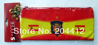 Spain Espana Soccer Fans Souvenir Pen Holder Pencil Bag Red