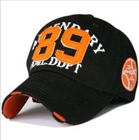 2014 spring south koreans love number 89 worn out washing cotton embroidery baseball cap 7color 1pcs free shipping