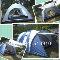 4-5persons 2rooms double layer outdoor big family camping tent original export to Russia