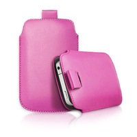 Free Shipping 30 pieces/Lot PU Leather Button Pull Tab Case Pouch With Strap For Samsung Galaxy S3/S4