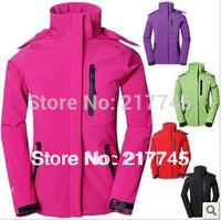 new 2014 brand fashion women's hiking camping sports coat outdoor fleece soft shell outerwear waterproof climbing clothes jacket