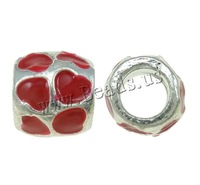 Free shipping!!!Zinc Alloy European Beads,Wedding Jewelry, Drum, silver color plated