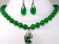 10mm dragon jade earrings pendant necklace sets GK54