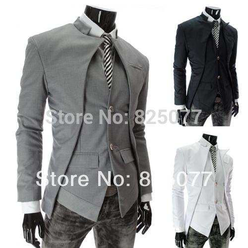 Mens Casual Dress Slim Fit Stylish Two button Suit Blazer Jackets Coat